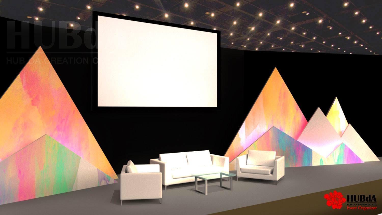 Stage Backdrop 3D Design